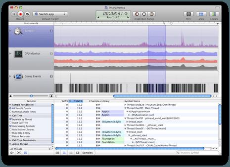 Instruments Mac OS X Leopard