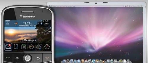 BlackBerry, synchronizácia na Mac OS X