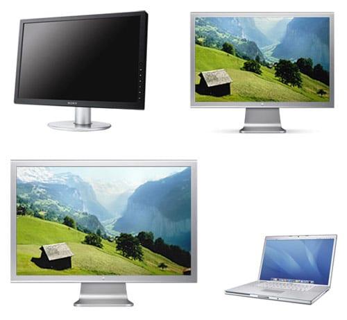 """MacBook Pro vs. Cinema 30"""" vs. Cinema 23"""" vs. Sony 23"""" color management test"""