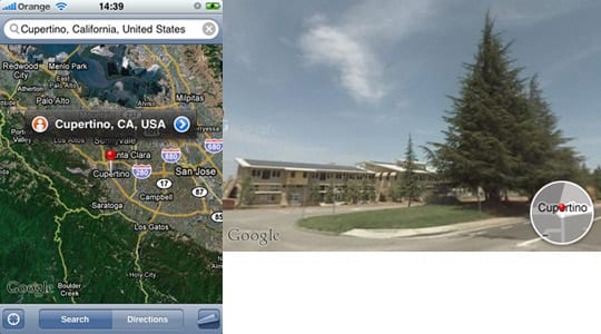 iPhone Google Maps Street View