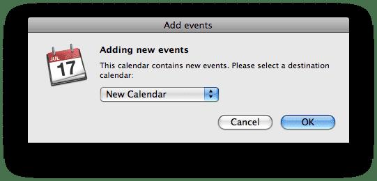 iCal nová udalosť