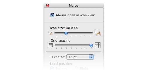 Mac OS X Leopard Finder icon view