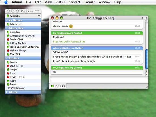 ICQ Adium pre Mac, Mac OS X