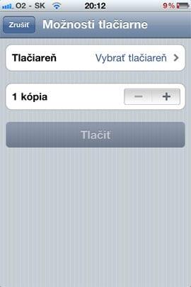 AirPrint v iOS 4.2