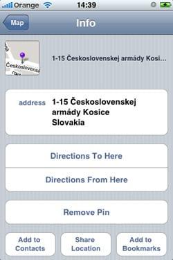 Zdieľanie pozície cez email iPhone