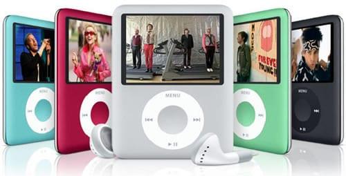 iPod nano (červené prevedenie nie je dostupné ani na Slovensku, ani v Čechách.
