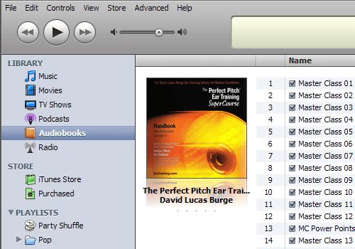 Audiokniha už pod správnou zložkou – Audiobooks.
