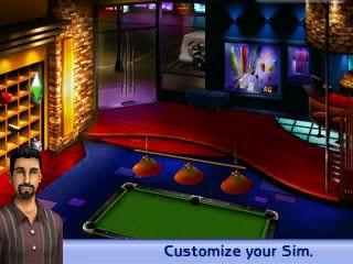 Sims Pool: upravenie charakteru.