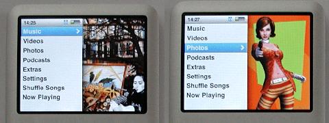 Náhľad zložiek Music a Photos.