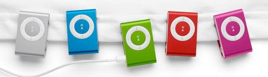 Nové farby iPod shuffle