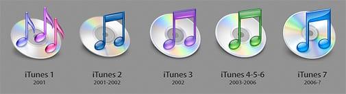 iTunes ikony