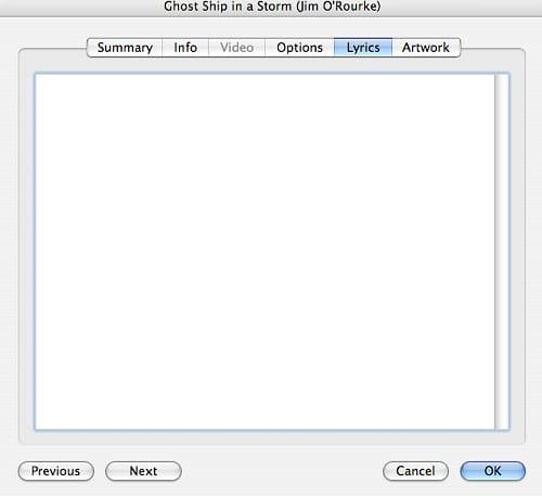 iTunes Add Lyrics