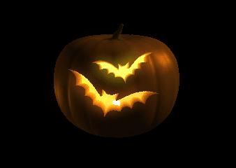 halloween Tekvica Netopier