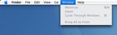 Unifikované menu v Mac OS X