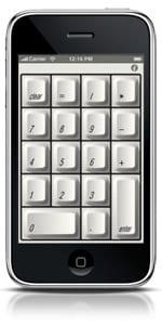 Numerická klávesnica pre Mac iPhone