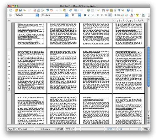 OpenOffice 3.0 zobrazenie viacerých stránok dokumentu