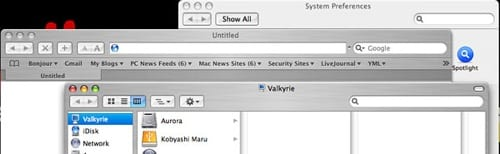 Mac OS X Tiger screenshot