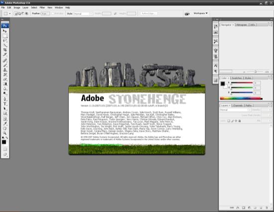 Photoshop CS4 screenshoty