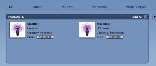 Podcast iTunes Store 3