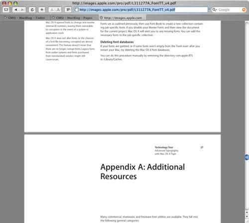 Safari PDF Plugin Preview