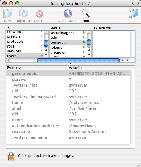 NetInfo Manager user