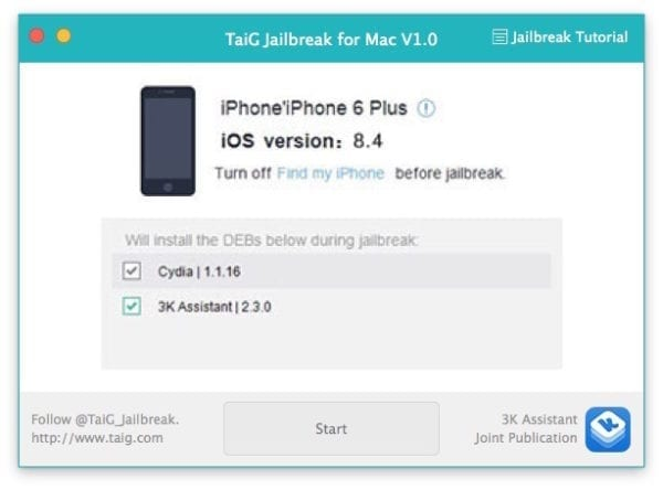 jailbreak mac ios8.4 01 600x444 - Jailbreak iOS 8.4 aj pre Mac OS X