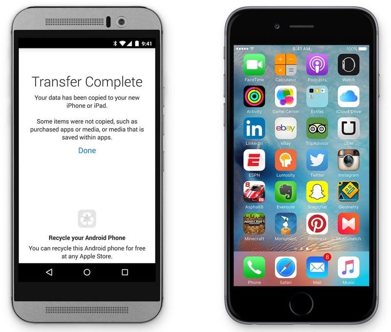 movetoios - Move to iOS nie je originálnou aplikáciou od Applu, na Play Store dostáva vlnu negatívnych hodnotení