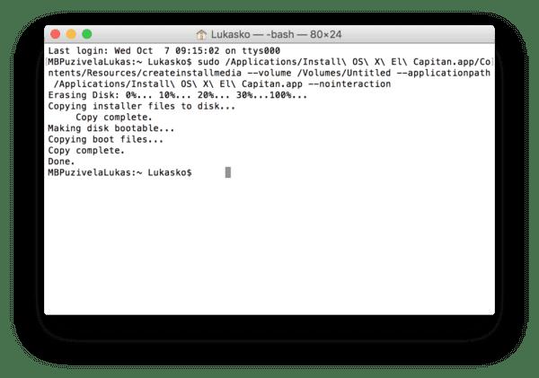 Ako vytvoriť USB inštalačný kľúč OS X El Capitan 03 600x421 - Návod: vytvorte si inštalačný USB kľúč OS X El Capitan