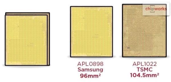 iPhone 6s- SoC Apple A9 od TSMC je väčšia ako od Samsungu