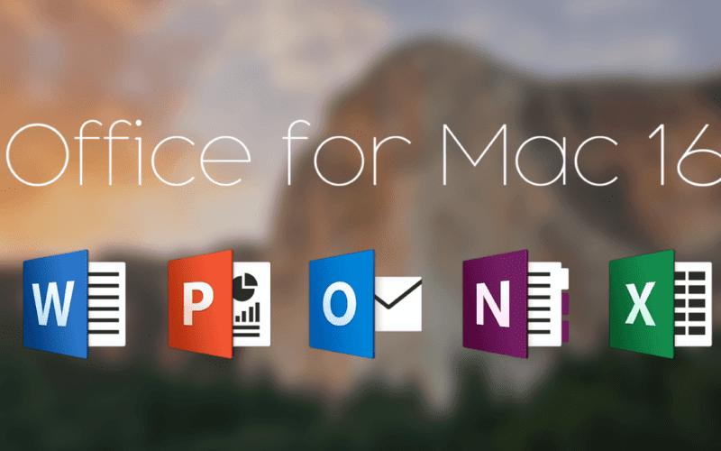 office for mac 2016 800x500 - Aktualizácia pre Microsoft Office prináša 64-bit podporu pre všetky aplikácie