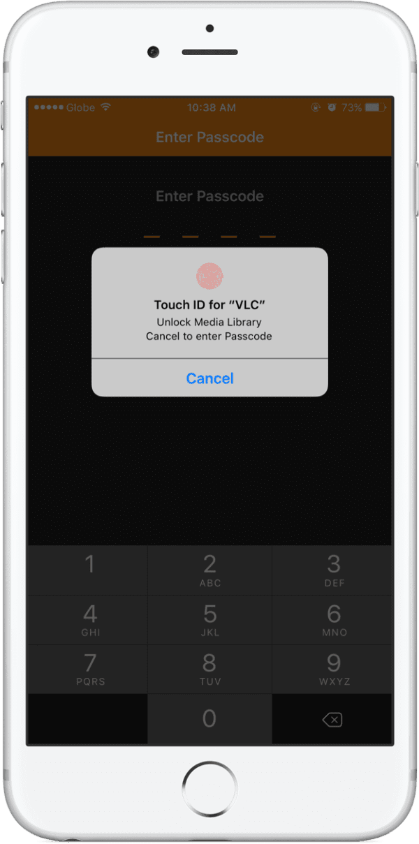 VLC-Touch-ID