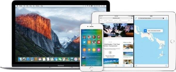 devices macbook ipad iphone 600x247 - Apple vydal iOS 9.3.3, OS X El Capitan 10.11.6 a aktualizácie pre iTunes, tvOS a watchOS