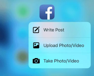 facebook 3Dtouch 380x309 - Facebook rozširuje 3D Touch funkcionalitu, budete si však musieť počkať