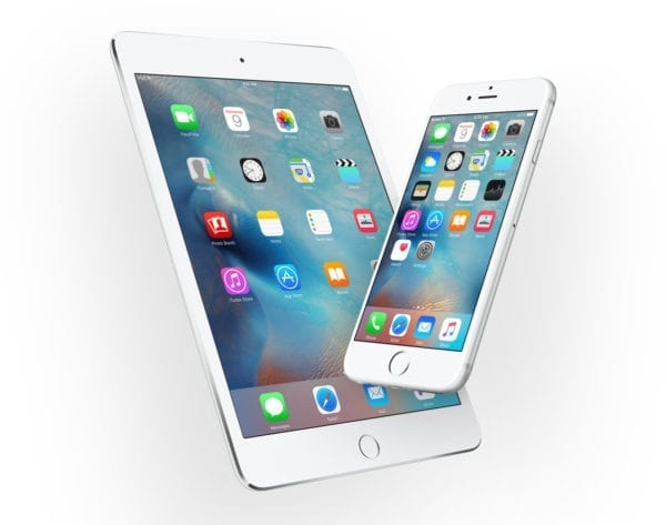 ipad iphone ios9 600x473 - Apple vydal iOS 9.3.4, zaplátal bezpečnostnú dieru a možnosť Jailbreaku