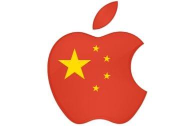 china flag apple logo1 380x253 - Čína vo svojej krajine zákazala službu iTunes Movies a iBooks
