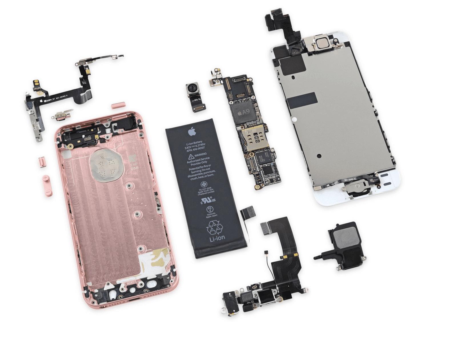 iphone se ifixit teardownjpg - iPhone SE má niekoľko totožných komponentov s iPhonom 5s
