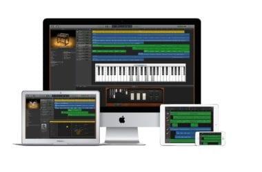 iPhone5s iPadAir iMac27 MBA13 GarageBand 380x250 - Veľký update pre GarageBand prináša tradičné čínske nástroje a nové loopy