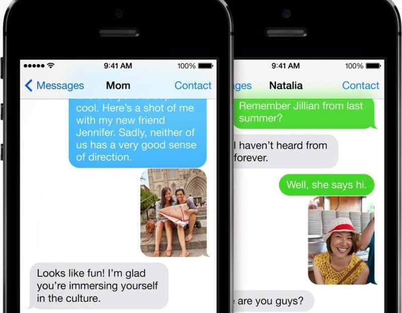 iphone imessage sms 800x623 - Apple sa pohráva s myšlienkou priniesť iMessage aj na Android