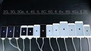 iphone porovanie 2016 380x213 - Video: všetky iPhone generácie v porovnaní