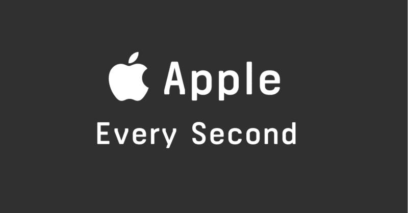 apple second 800x418 - Jedna sekunda vo svete Apple
