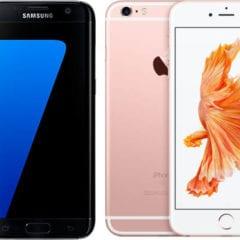 iPhone 6s Galaxy S7 240x240 - Apple plánuje budúci rok predstaviť iPhone s obojstranne zakriveným displejom