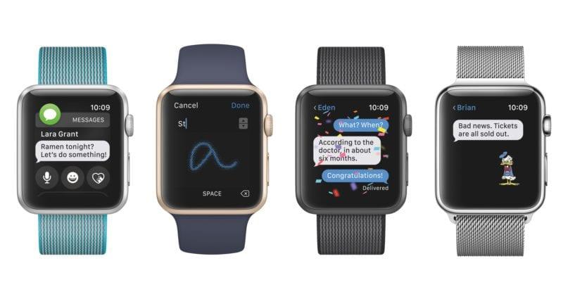 watchOS 3 messages