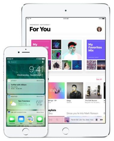 ios 10 apple music iphone ipad devices 380x470 - Apple prestal podpisovať iOS 10.2.1 a 10.3, už nie je možný downgrade
