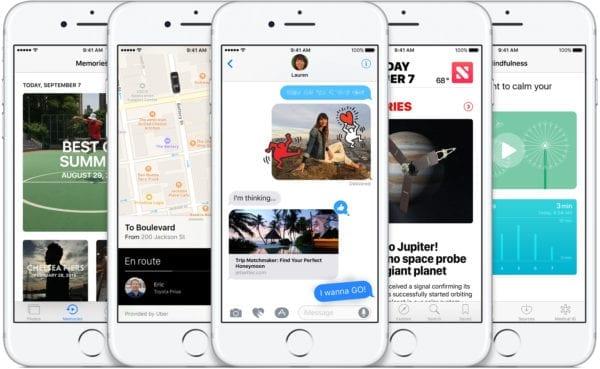 ios 10 apps 600x369 - iOS 10 je už nainštalovaný na 34 % zariadení