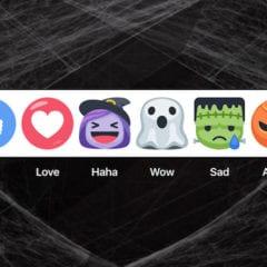 Facebook reakce Halloween 240x240 - Facebook updatoval iOS aplikaci s motivy na Halloween