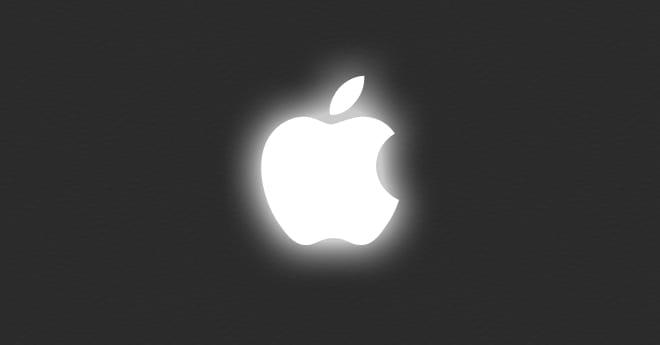 glowing-apple-logo