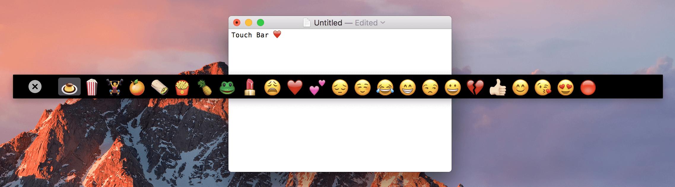 touch bar demo emoji