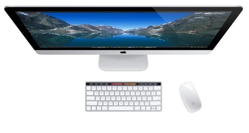 iMac Touch Bar Keyboard 800x428 - Apple pripravuje nový iMac s USB-C a Touch Bar klávesnicu