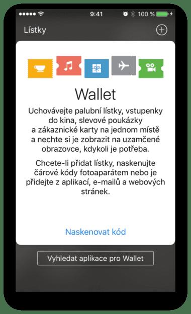 Wallet 380x625 - Jak přidat lístky/letenky do aplikace Wallet?