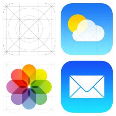 ios7 02 icons grid 380x381 - Ako tvar ikoniek v iOS súvisí s industriálnym dizajnom produktov